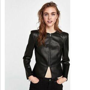 ZARA Basic Faux Leather Jacket XS